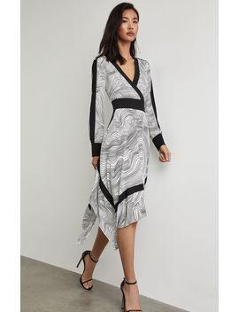 Lightwave Stripe Handkerchief Dress by Bcbgmaxazria