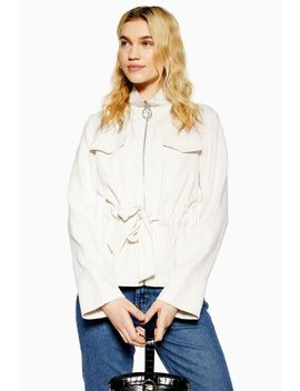 Zip Belted Jacket by Topshop