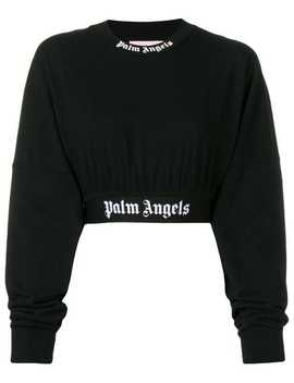 Long Sleeve Cropped Sweatshirt by Palm Angels