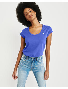 Scoopneck Icon Tee by Abercrombie & Fitch