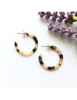 30mm Small Ash Blonde Tortoise Shell Hoop Acetate Earrings | Tortoise Shell Earrings | Acetate Hoops | Acetate Earrings | Resin Earrings T 1 by Etsy