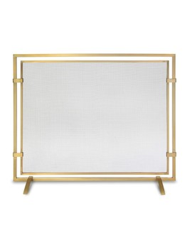Sinclair Single Panel Screen, Burnished Brass by Williams   Sonoma