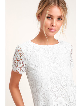Classic Tale White Lace Short Sleeve Top by Lulus