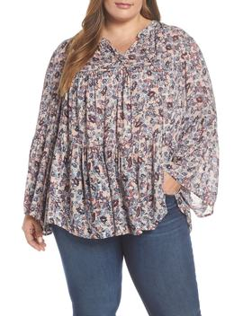 Ditsy Floral Print Top by Lucky Brand