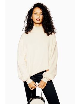 High Neck Sweatshirt by Topshop