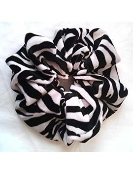 Zebra Velvet Hair Scrunchies Large   Made In The Usa by Penny's Boutique