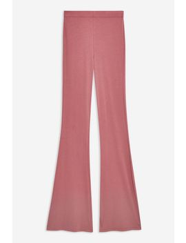 Cupro Ribbed Flares by Topshop