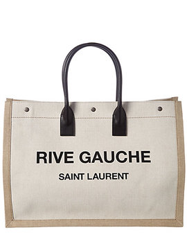 Saint Laurent Rive Gauche Canvas Tote by Saint Laurent