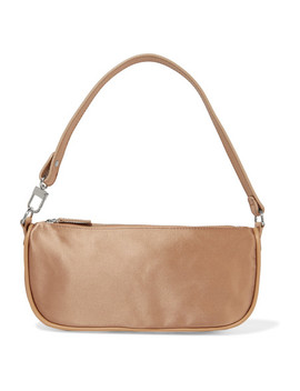 Rachel Leather Trimmed Silk Satin Shoulder Bag by By Far