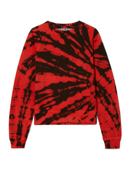 Tie Dyed Cotton Terry Sweatshirt by Proenza Schouler