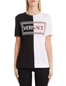 Versace '90s Logo Colorblock Tee by Versace First Line