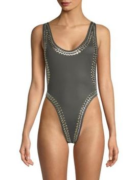 Marissa Stud One Piece Swimsuit by Norma Kamali