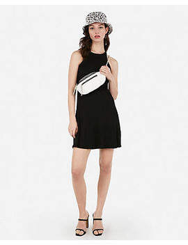 Ribbed Halter Shift Dress by Express