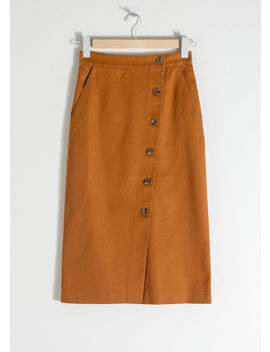 Button Up Denim Pencil Skirt by & Other Stories