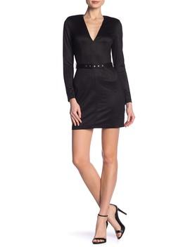 Long Sleeve Metallic Bodycon Dress by Dress Forum