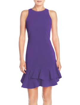 Tiered Ruffle Hem Mini Dress by Chelsea28