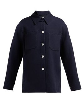 Odenna Boiled Wool Blend Overshirt by Acne Studios
