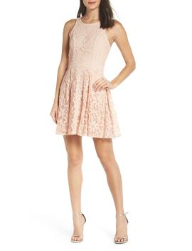 Racerback Lace Party Dress by Lulus