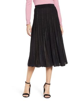 Sparkle Pleated Midi Skirt by Prima