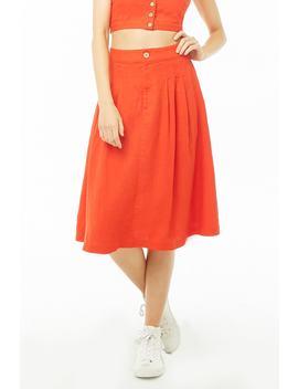 Linen Blend A Line Skirt by Forever 21