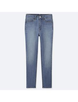 Women High Rise Ultra Stretch Ankle Length Jeans by Uniqlo