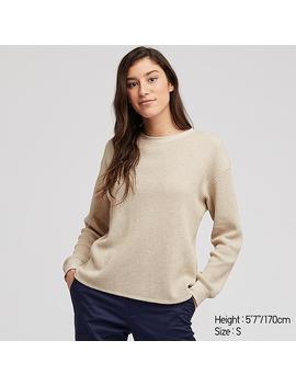 Damen Langarmshirt In Waffeloptik by Uniqlo