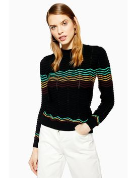 Chevron Jumper by Topshop