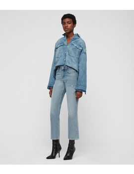 Harper Oversized Denim Shirt by Allsaints