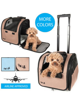 Pet Life Wheeled Travel Pet Dog Or Cat Carrier by Pet Life