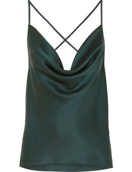 The Jacqueline Draped Silk Charmeuse Camisole by Cami Nyc