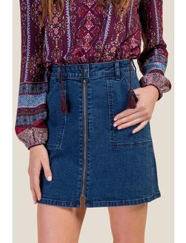 Marianne Zip Front Mini Skirt by Francesca's