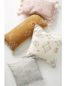 Joanna Gaines For Anthropologie Embroidered Sadie Pillow by Anthropologie