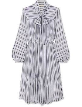 Carolina Striped Gauze Midi Dress by Michael Michael Kors