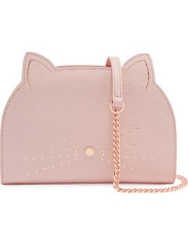 Kirstie Cat Leather Crossbody Bag by Ted Baker London