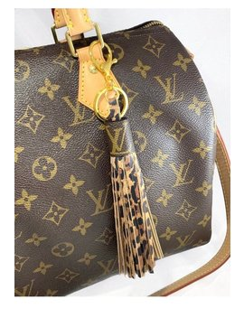 Louis Vuitton Bag Charm, Authentic Canvas, Genuine Leather Tassel by Etsy