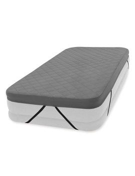 Intex 200 Thread Quilt Fitted Polyester Twin Airbed Cover (Airbed Not Included) by Intex