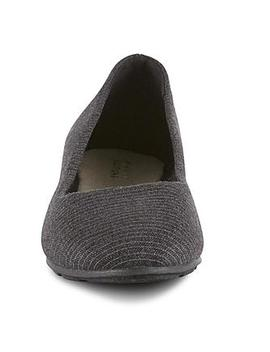 Basic Editions Women's Audrey Striped Ballet Flat   Gray Basic Editions Women's Audrey Striped Ballet Flat   Gray by Basic Editions