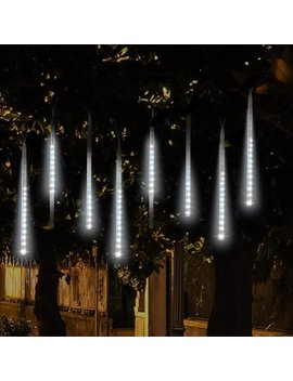 Falling Rain Lights, Tsv Meteor Shower Lights Waterproof With 30cm 8 Tubes 144 Led Icicle String Lights For Holiday Party, Wedding, Christmas Decoration by Tsv