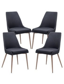 Poly And Bark Ethen Dining Chair In Black (Set Of 4) by Poly & Bark