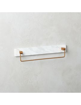 "White Marble Towel Bar 18"" by Crate&Barrel"