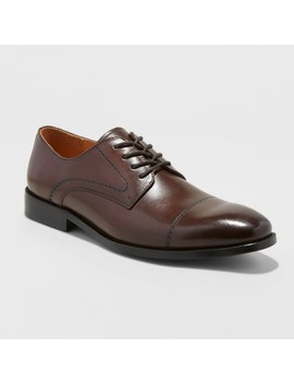 Men's Leather Oxford Dress Shoes   Goodfellow & Co™ Brown by Goodfellow & Co