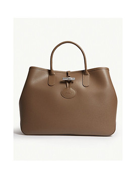 Roseau Large Leather Tote by Longchamp