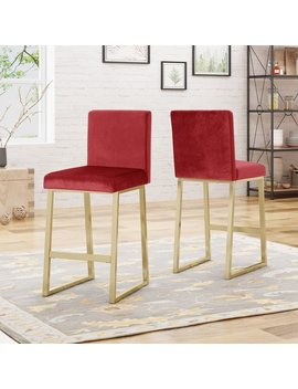Toucanet Modern Velvet Barstools (Set Of 2) By Christopher Knight Home by Christopher Knight Home