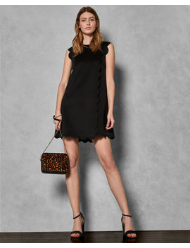 Scallop Detail Shift Dress by Ted Baker