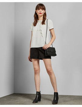 Scallop Edge Tie Neck Top by Ted Baker