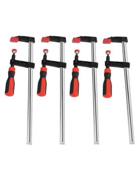 Walfront 4 Pcs Heavy Duty F Clamps Woodworking Bar Clips Quick Slide Diy Hand Tool Kit 50*300mm, Woodworking Clamps, Bar Clamp by Walfront