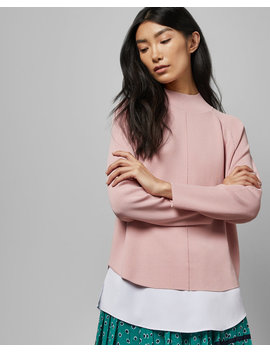 Sculpted Mockable Sweater by Ted Baker