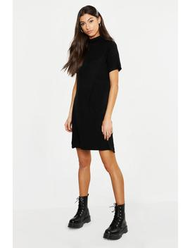 Tall Roll Neck T Shirt Dress by Boohoo