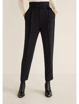 Pantaloni Cu Talie înaltă și Curea by Mango
