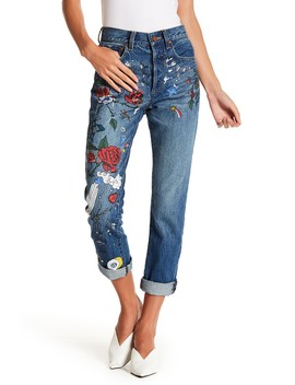Amazing High Rise Painted Girlfriend Jeans by Alice + Olivia
